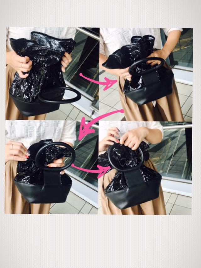 スクラップブック 渋谷 イコット バッグ bag ハンドバッグ 変形型