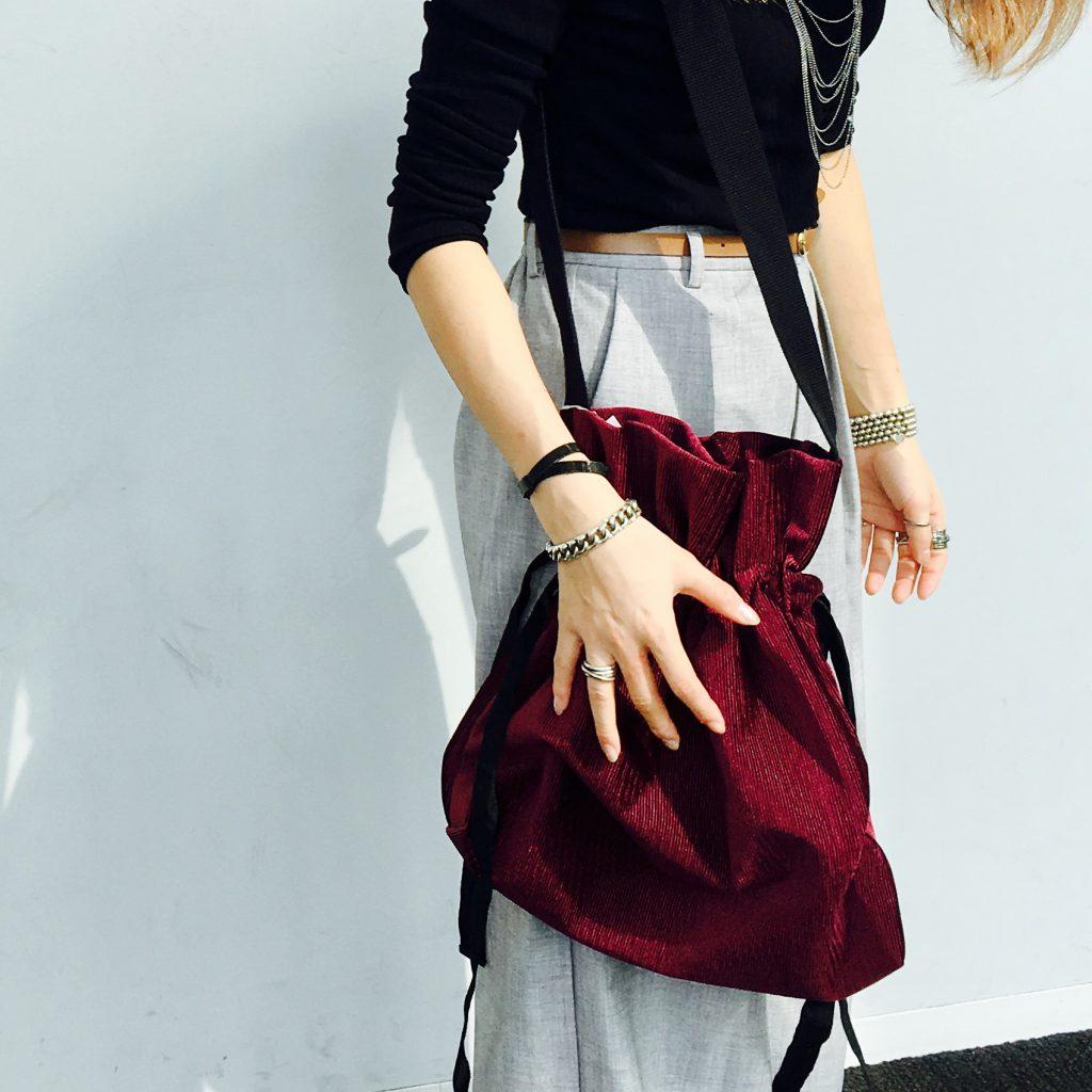 スクラップブック 渋谷 バッグ bag ショルダーバッグ shoulderbag ベロア素材