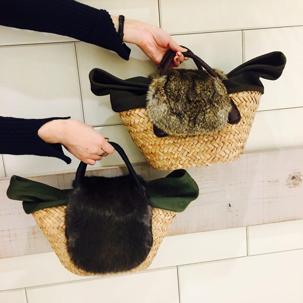 スクラップブック 渋谷 バッグ かごバッグ ファーバッグ ハンドバッグ