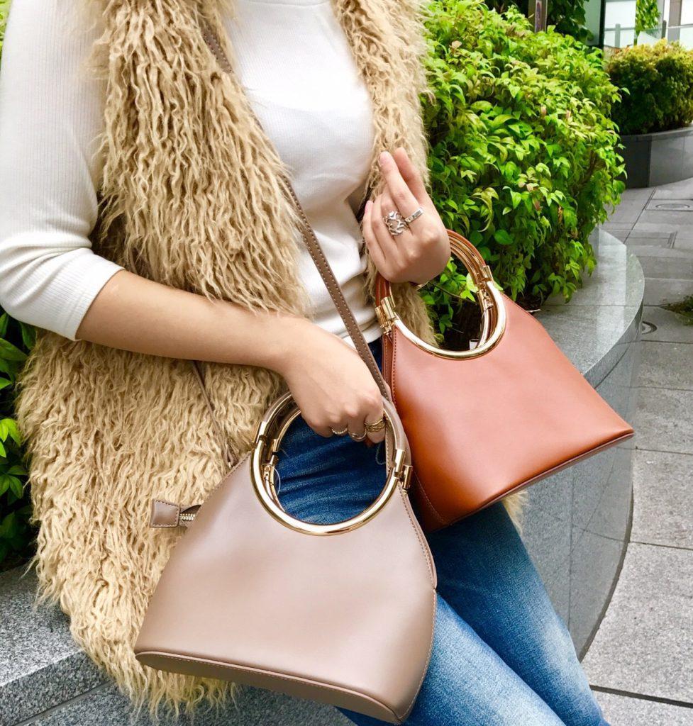 #scrapbook #スクラップブック #ショルダーバッグ #shoulder #bag #camel #grey #beige #autumn