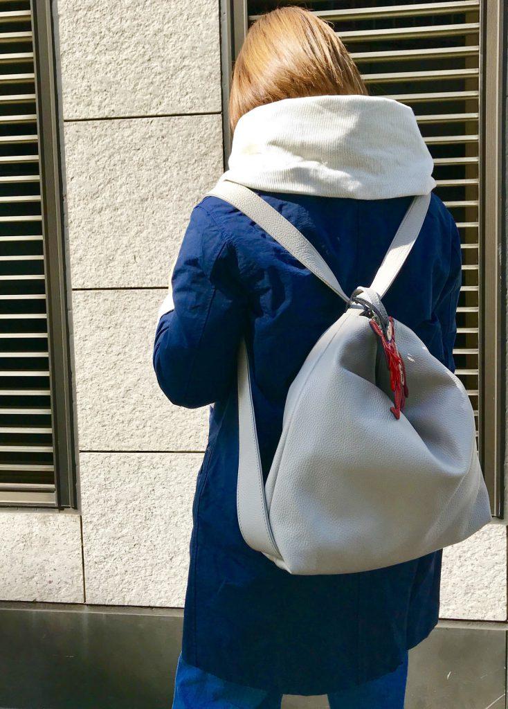 ScrapBook atneK スクラップブック アトネック 有楽町マルイ リュック Rucksack 2way 2wayリュック バッグ bag レザーリュック レザー イタリアンレザー ベビー二 BEVINI 肩掛けバッグ 可愛い 可愛いバッグ