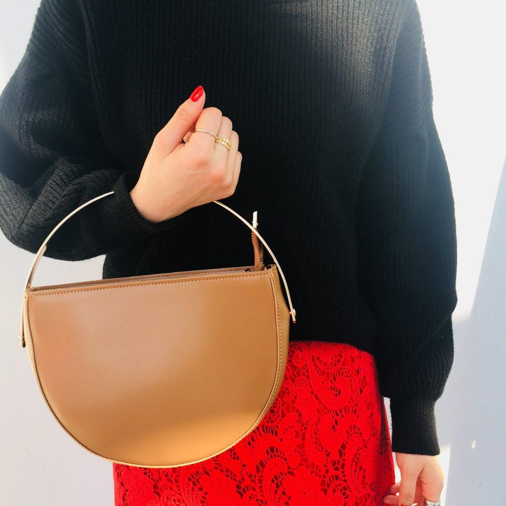 スクラップブック 渋谷 ヒカリエ bag バッグ 半月バッグ