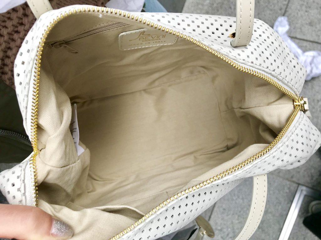 スクラップブック パンチングレザー アトネック ScrapBook atneK 有楽町マルイ ベビー二 BEVINI 鞄 バッグ bag イタリアンレザー レザー 可愛い 可愛いバッグ