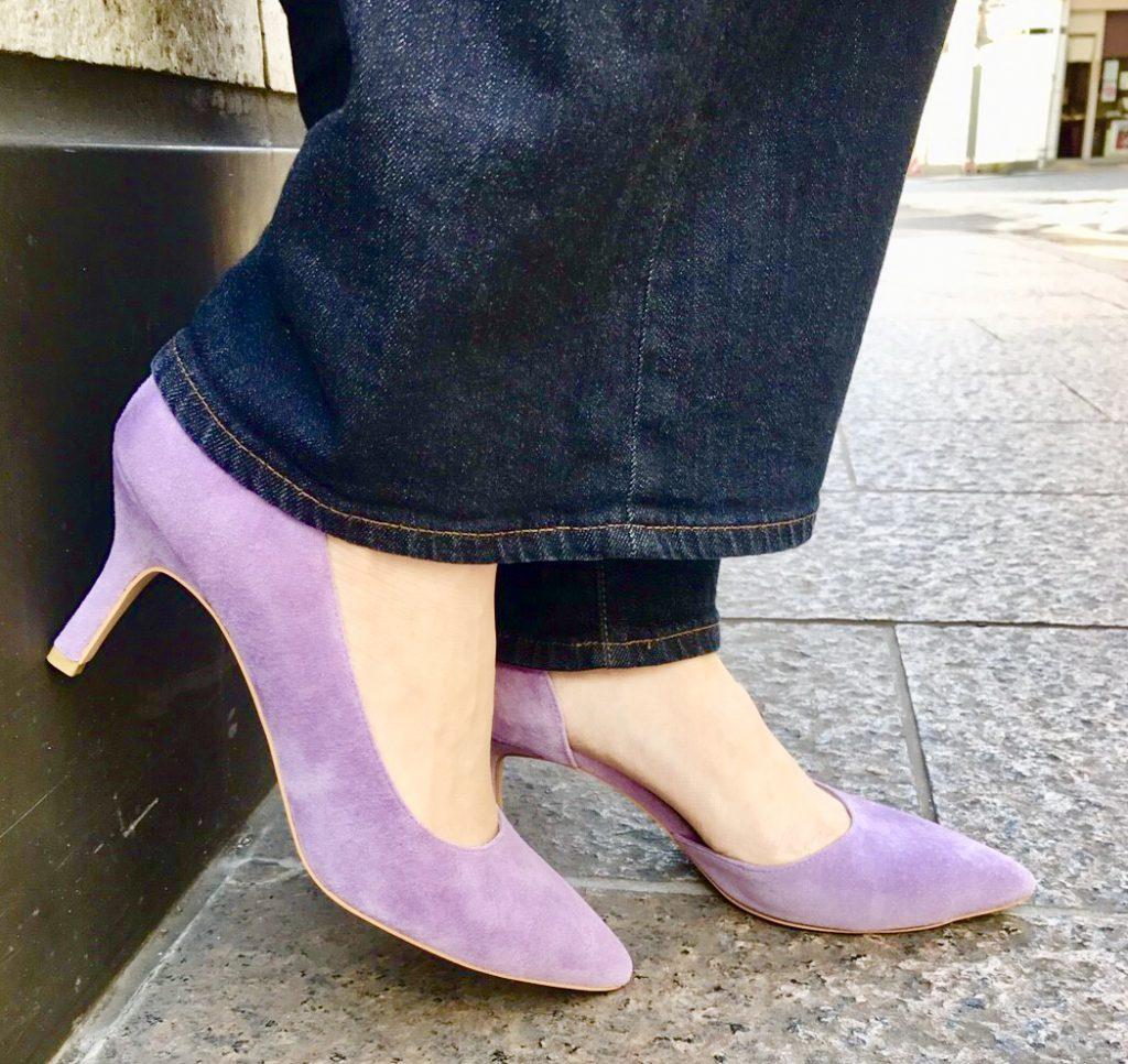 ScrapBook atneK スクラップブック アトネック 有楽町マルイ パンプス pumps ピンヒール 春色パンプス 春色 ポインテッドトゥ 日本製の靴