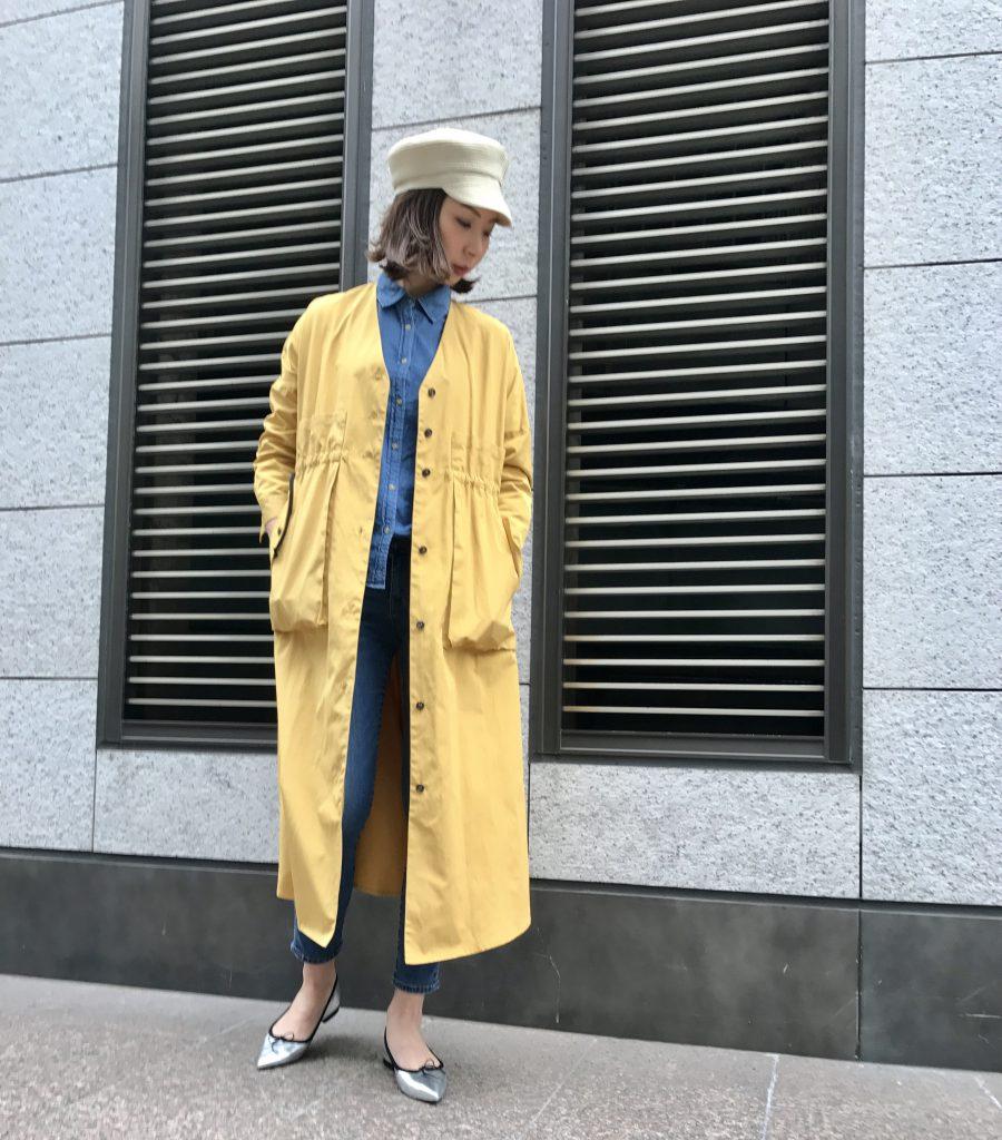 HERENCIA ヘレンチア Scrap Book スクラップブック アトネックバイ 有楽町マルイ one-piece ワンピース coat コート 春 可愛い ロング丈 軽い ライトコート ポケット付き 日本製 主役級 ボタン ウエストマーク