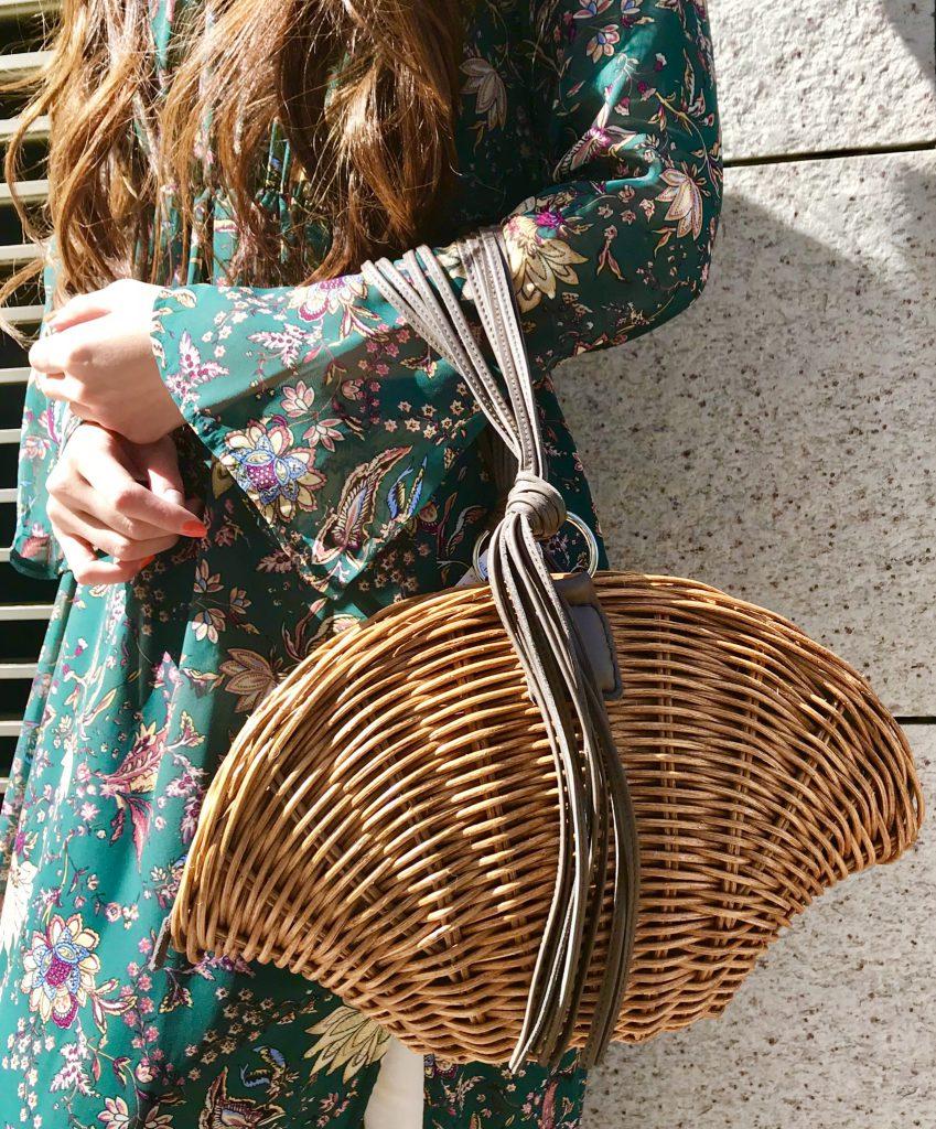 スクラップブック アトネック ScrapBook atneK 有楽町マルイ カゴバッグ ラタン レザーバッグ バッグ bag ラタン素材 シェル型 可愛い 可愛いバッグ 可愛いカゴバッグ