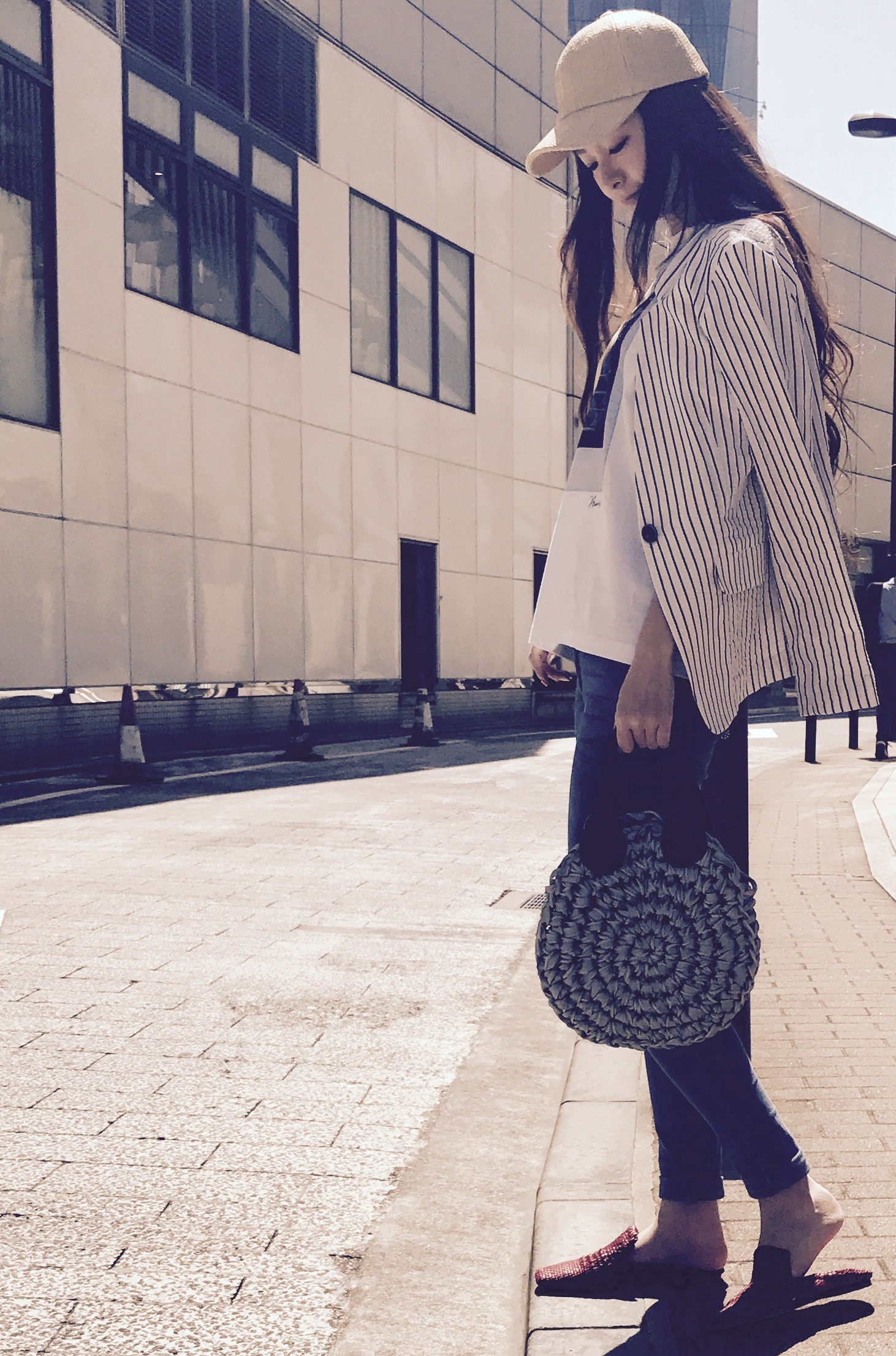POMTATA Scrap Book ポンタタ スクラップブック 有楽町マルイ 可愛い bag バッグ knit bag ニットバッグ レザー持ち手 牛革ハンドル 軽い 日本製 ジャパンメイド タンポポ