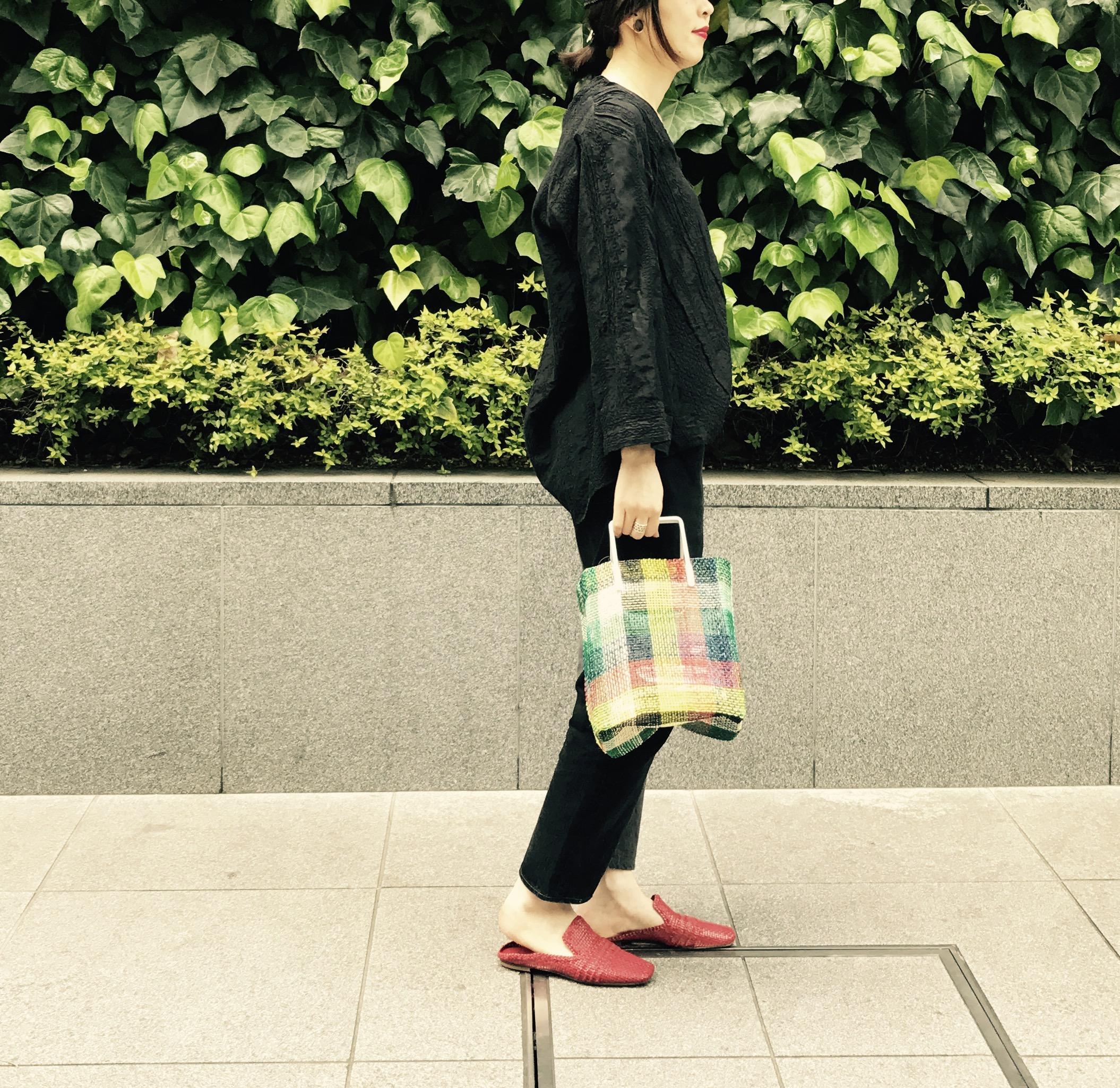 POMTATA Scrap Book pvc アバカ アルミ 有楽町マルイ ポンタタ スクラップブック 可愛い vinyl bag mesh bag ビニールインナー メッシュバッグ チェック柄バッグ 2way bag