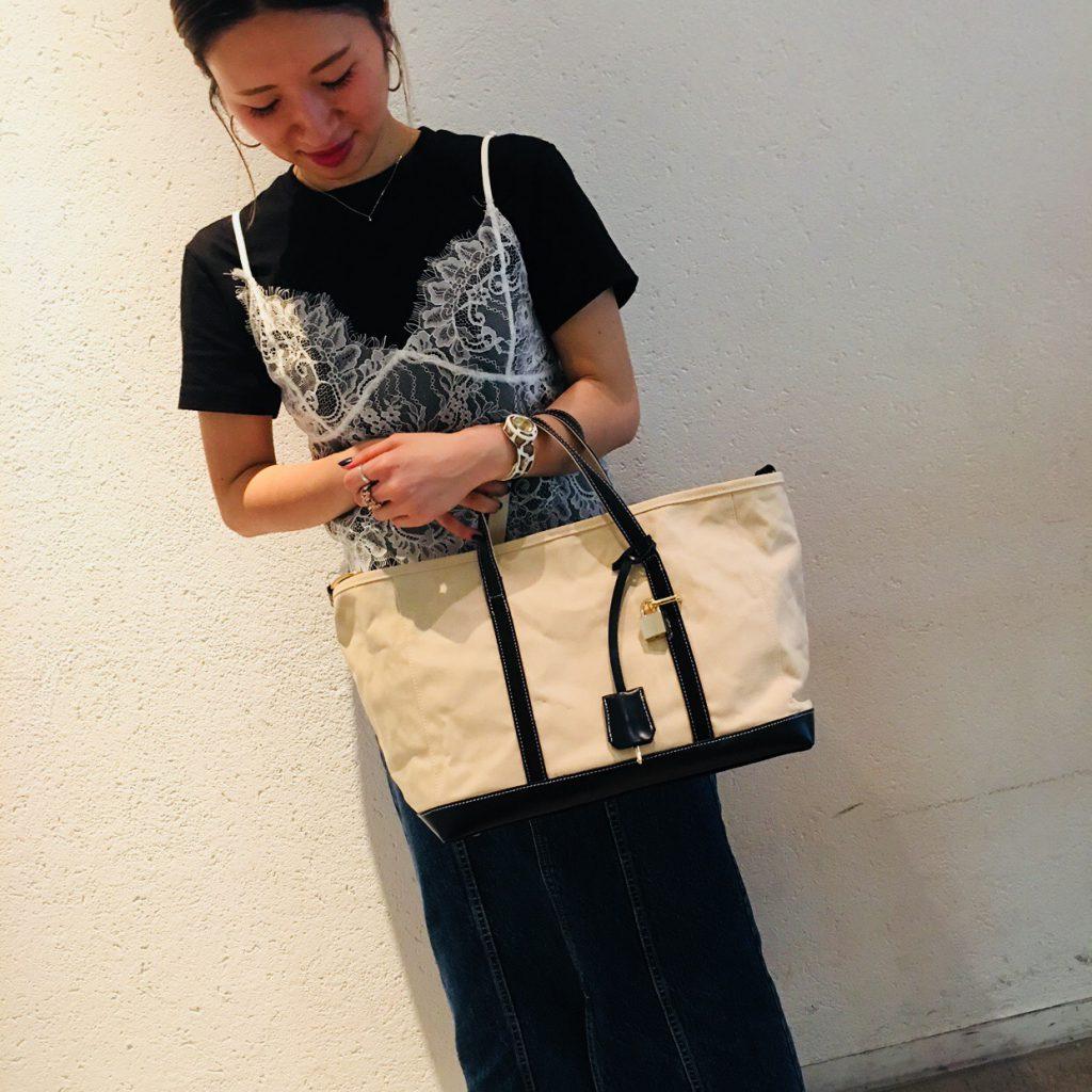 スクラップブック 渋谷 ヒカリエ バッグ bag 帆布 atneK アトネック トートバッグ 大きめサイズ a4 通勤用 仕事