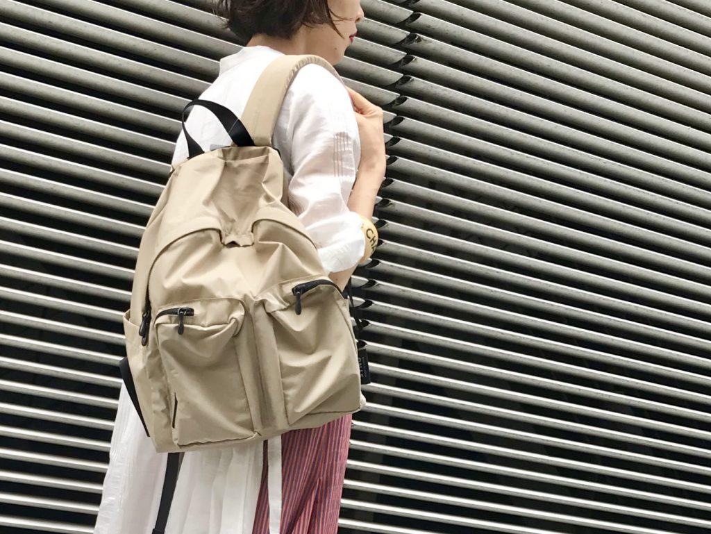 SYNG Scrap Book シング スクラップブック 有楽町マルイ 可愛い 日本ブランド ナイロンリュック リュックサック Rucksack 撥水加工 軽い 通気性良い ナイロン×コットン