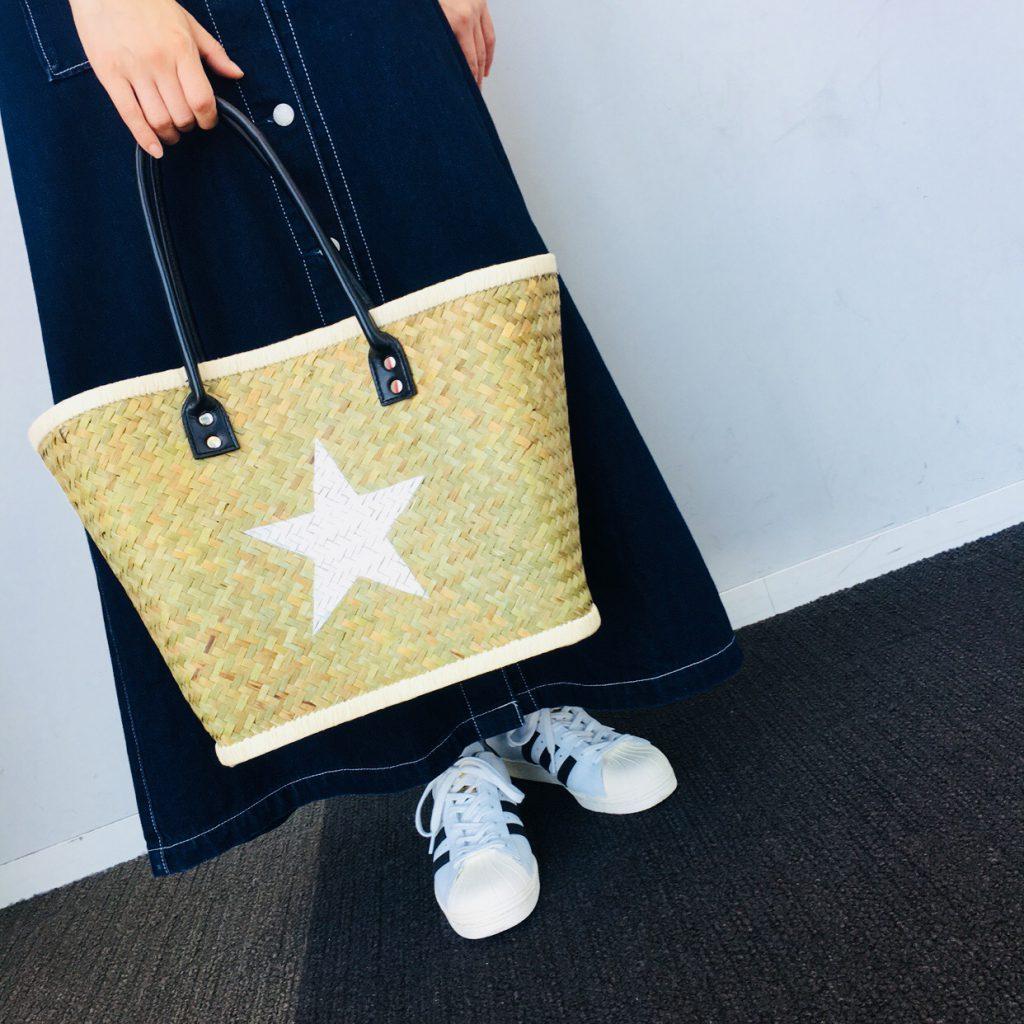 スクラップブック 渋谷ヒカリエ かごバッグ Summer bag バッグ 大きめ レジャー