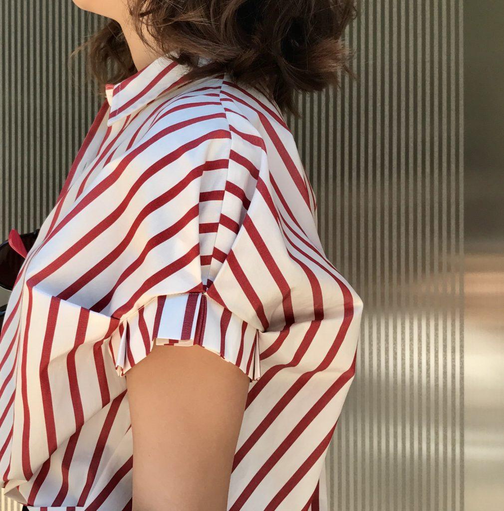 Haru's ami Scrap Book ハルズアミ スクラップブック 有楽町マルイ shirt シャツ ストライプシャツ stripeshirt 日本製 日本ブランド 日本メーカー 美しいライン 半袖シャツ 着回し 可愛い