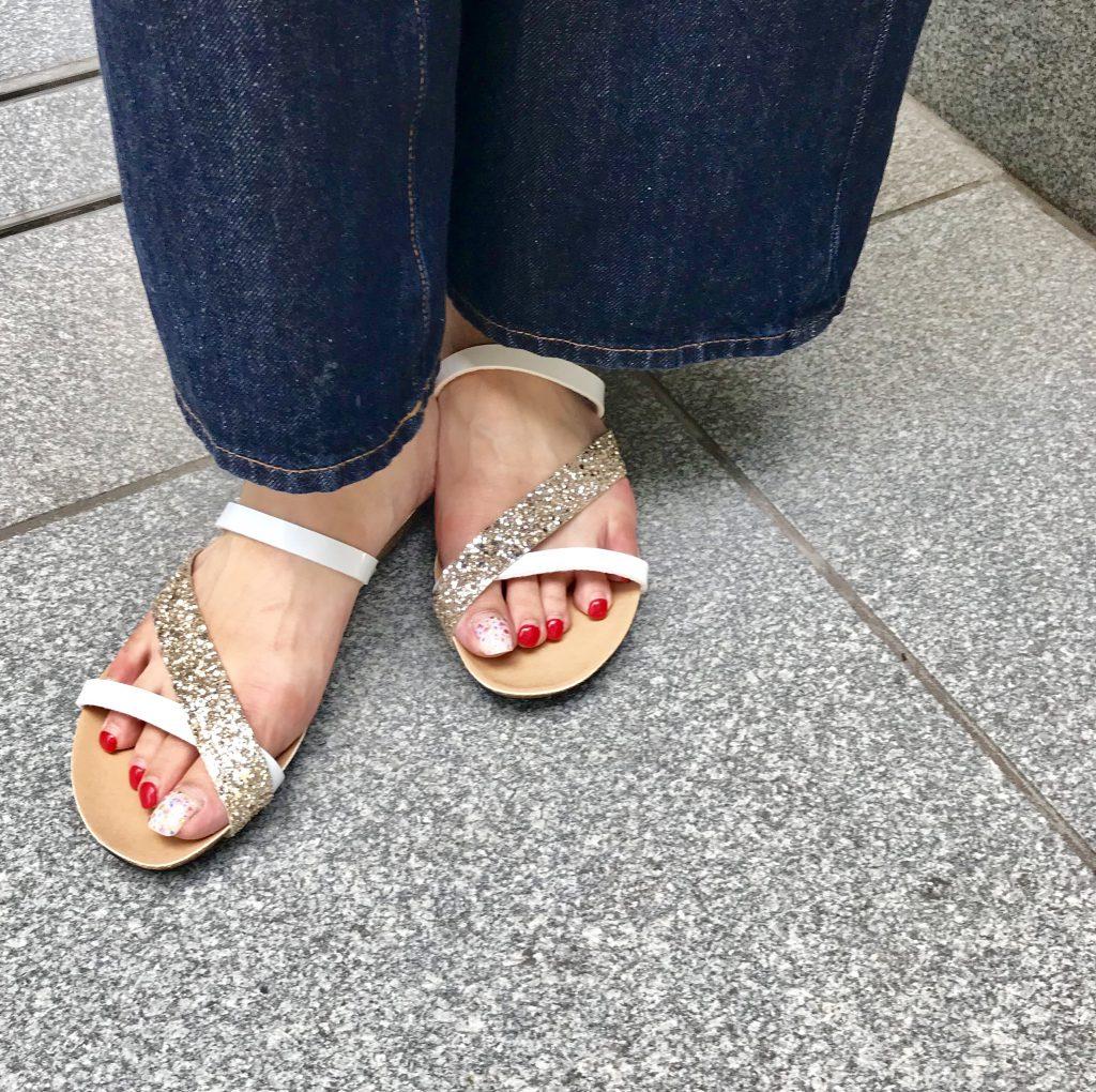 PLAKTON Scrap Book プラクトン スクラップブック 有楽町マルイ 可愛い サンダル sandal グリッターサンダル glittersandal スペイン製 コルクソール 軽いサンダル 歩きやすい