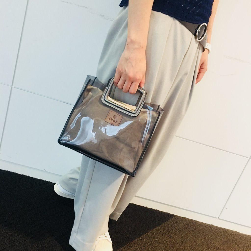 スクラップブック 渋谷 ヒカリエ バッグ bag クリアバッグ 夏用 サマーバッグ