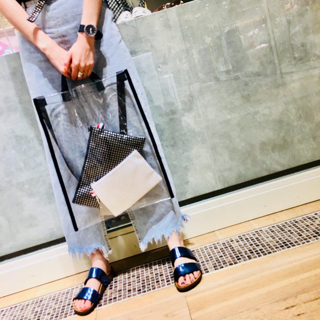 スクラップブック 渋谷 ヒカリエ bag バッグ 夏素材 クリアバッグ トートバッグ ショルダーバッグ