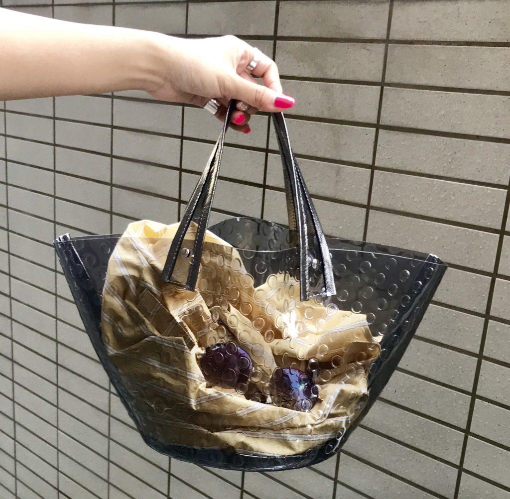 ikot Scrap Book スクラップブック イコット 有楽町マルイ 可愛い vinyl bag ビニールバッグ pvc フィリピン ドット型押し 巾着付き 夏バッグ