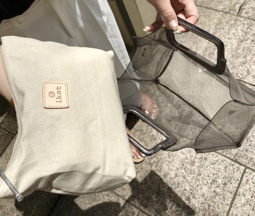 ikot Scrap Book イコット スクラップブック 有楽町マルイ 可愛い vinyl bag ビニールバッグ クリアバッグ clear bag フィリピン ハンドバッグ ポーチ付きバッグ 夏素材