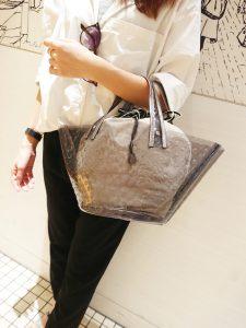 スクラップブック 渋谷 ヒカリエ bag バッグ 新作 イコット ikot クリアバッグ かごバッグ 夏用