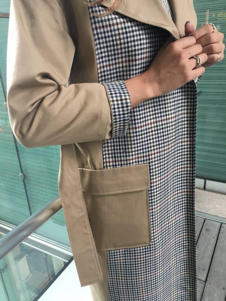 La SRIC ラ・スリック Scrap Book スクラップブック 有楽町 日本製 コート トレンチコート チェック