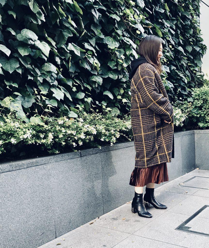 Haru's ami Scrap Book スクラップブック ハルズアミ 有楽町マルイ 可愛い plaid coat アウター outer チェックコート 日本製 日本ブランド ノーカラーコート 軽いコート