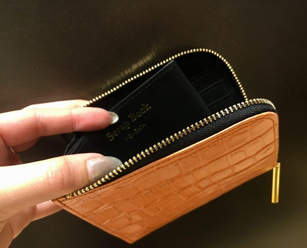 POMTATA ポンタタ Scrap Book スクラップブック 有楽町マルイ 可愛い コラボレーション 財布 Wallet 長財布 小さいお財布 L字型 開きやすい財布 見やすい財布 牛革 日本製 2色展開