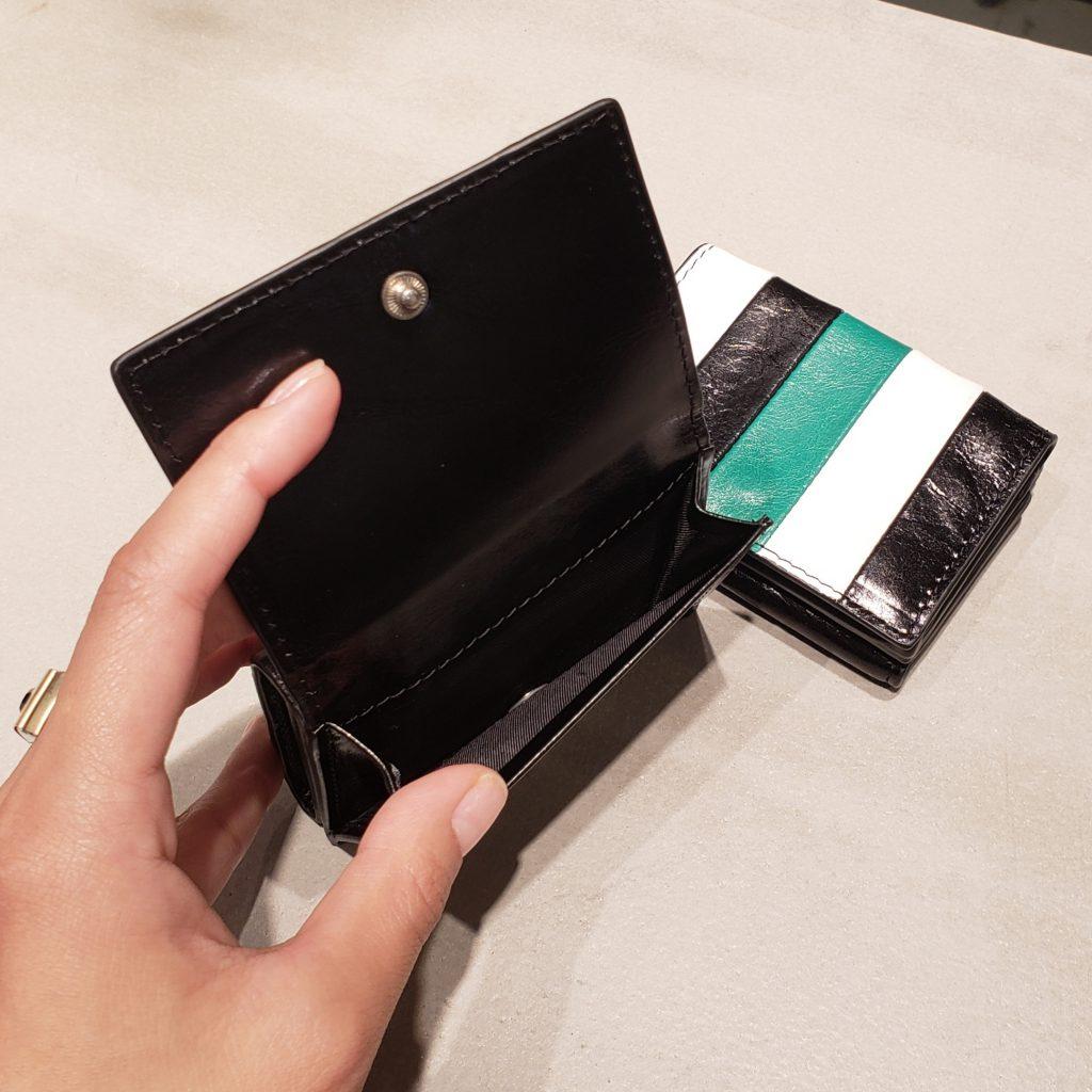 Scrap Book スクラップブック 池袋 東武 財布 三つ折り  ミニ財布 可愛い おしゃれ お財布 ストライプ 縞模様  stripe 軽量 軽い