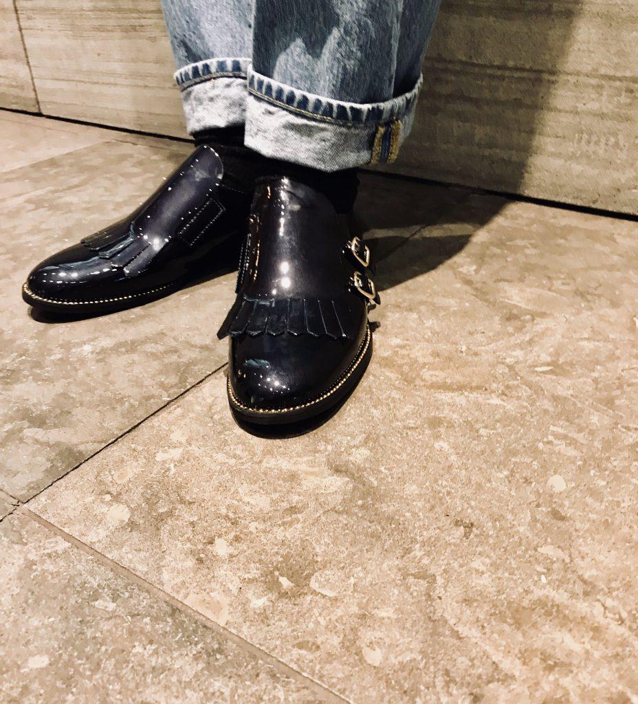 STATUS ステイタス Scrap Book スクラップブック 有楽町マルイ 可愛い ファクトリーブランド イタリア製 イタリアンレザー マニッシュ シューズ shoes ドレスシューズ スタッズシューズ レースアップシューズ エナメルシューズ