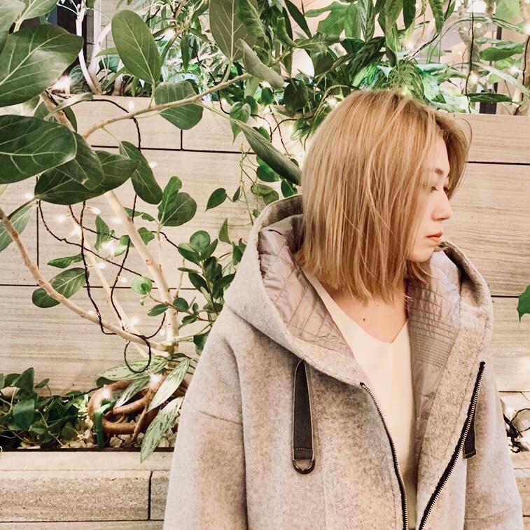 Haru's ami Scrap Book スクラップブック ハルズアミ 日本製 フード付コート アウター coat outer ひざ丈コート 軽いコート 有楽町マルイ 可愛い