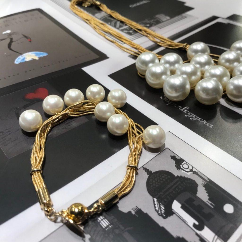 jour couture ジュールクチュール Scrap Book スクラップブック 有楽町マルイ 可愛い necklace ネックレス bracelet ブレスレット gold ゴールド Perl パール