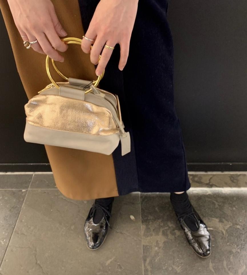 MARCO MASI Scrap Book スクラップブック マルコマージ 有楽町マルイ アトネックバイスクラップブック 可愛い リングバッグ レザーバッグ メタリック ピンクゴールド イタリア製 パーティーバッグ
