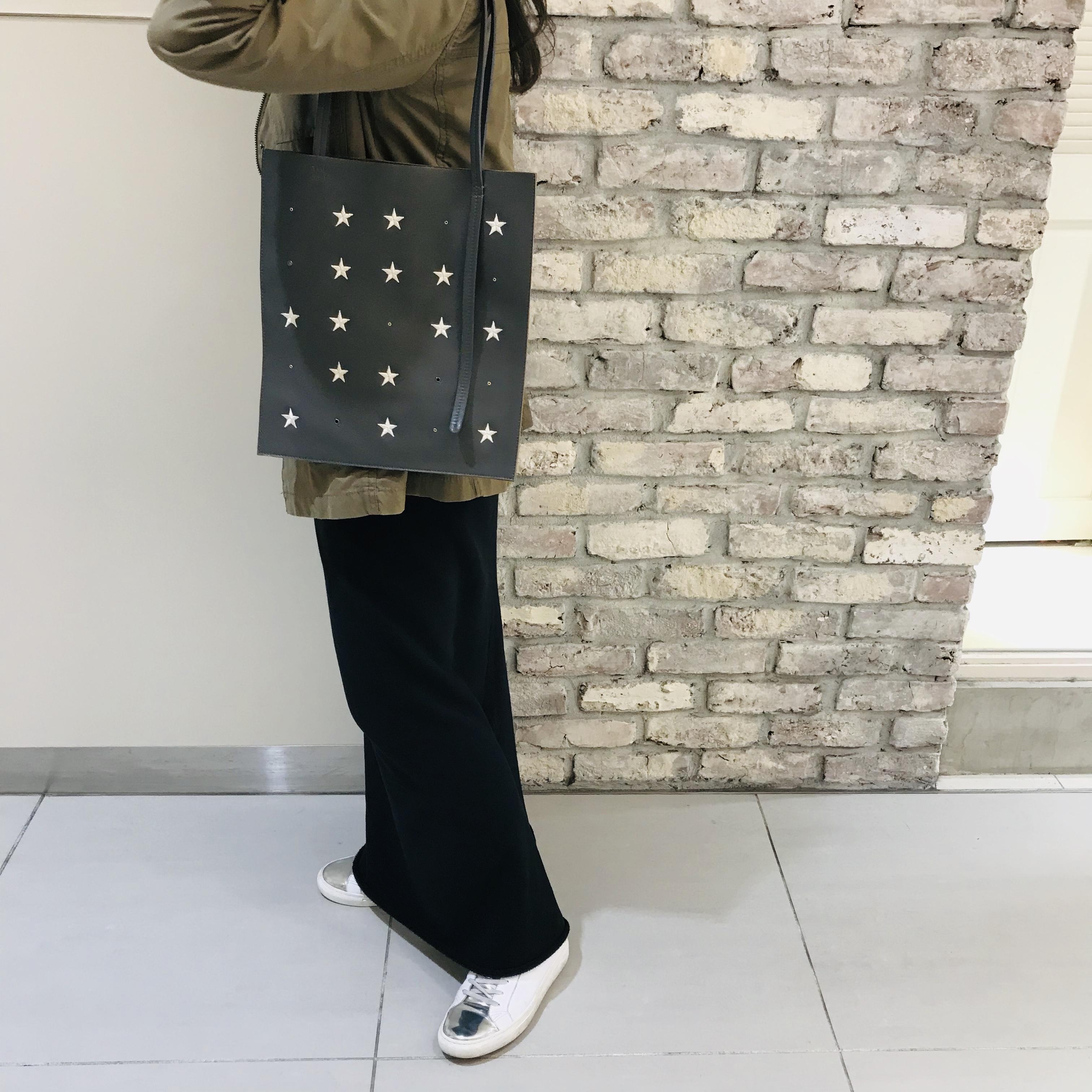 ScrapBook スクラップブック atneKアトネック 星刺繍トート