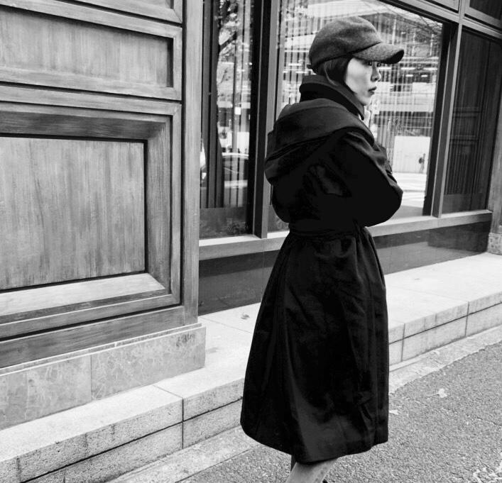 Haru's ami Scrap Book スクラップブック ハルズアミ 有楽町マルイ 可愛い coat コート SALE ガウンコート ウールコート ロングコート フード付きコート フード取り外し可能 日本ブランド ワンピースコート