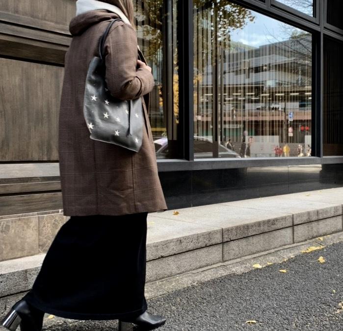 atneK アトネック Scrap Book スクラップブック ハルズアミ 有楽町マルイ 可愛い SALE tote bag トートバッグ ラムレザー 羊革 軽い 日本ブランド 日本人デザイナー 星 刺繍