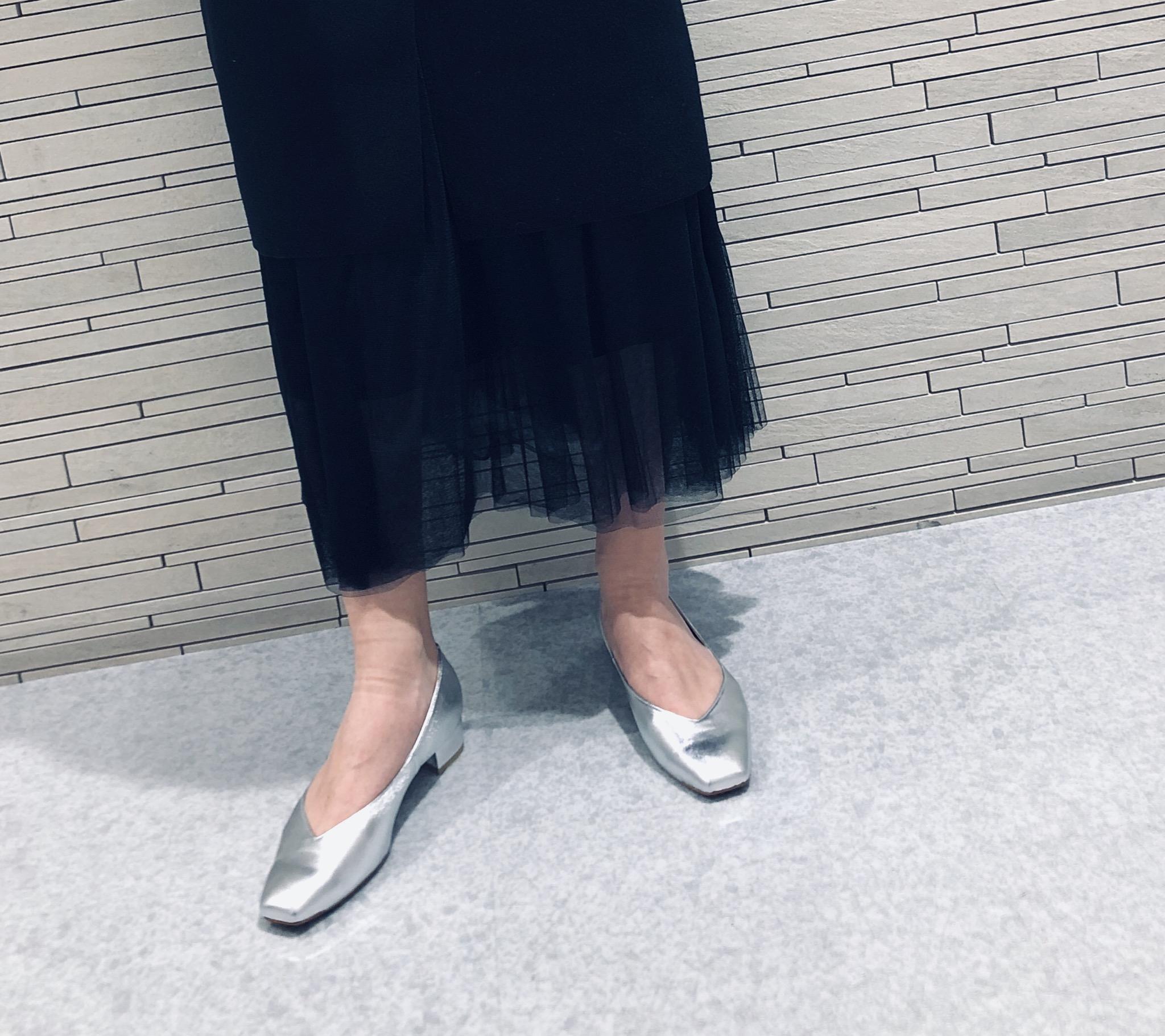 スクラップブック scrapbook  Scrap Book 池袋東武 セレクトショップ 可愛い カワイイ かわいい お洒落 オシャレ おしゃれ 靴 シューズ  履きやすい 日本製 シルバー