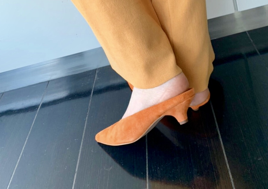 Scrap Book スクラップブック 有楽町マルイ 可愛い ミュール mules 豚革 ピッグレザー サンダル 日本製 神戸 靴職人 インソールクッション 日本ブランド アトネックバイスクラップブック ローヒール