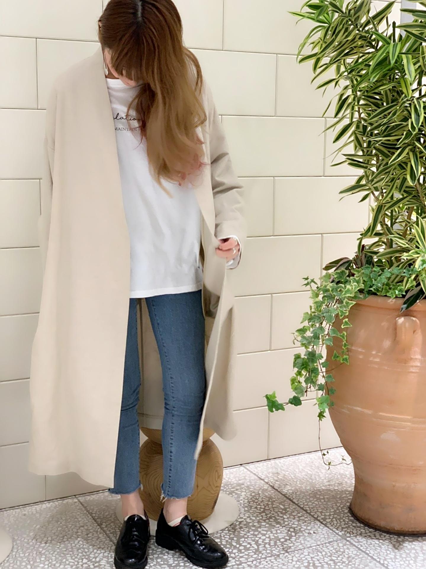 スクラップブック渋谷 スクラップブック渋谷ブログ スクラップブック コート ジャケット 麻 リネン 麻綿 ガウン ノーカラー ベージュ トレンド トレンドカラー 大人可愛い 大人シンプル 大人カジュアル ハルズアミ