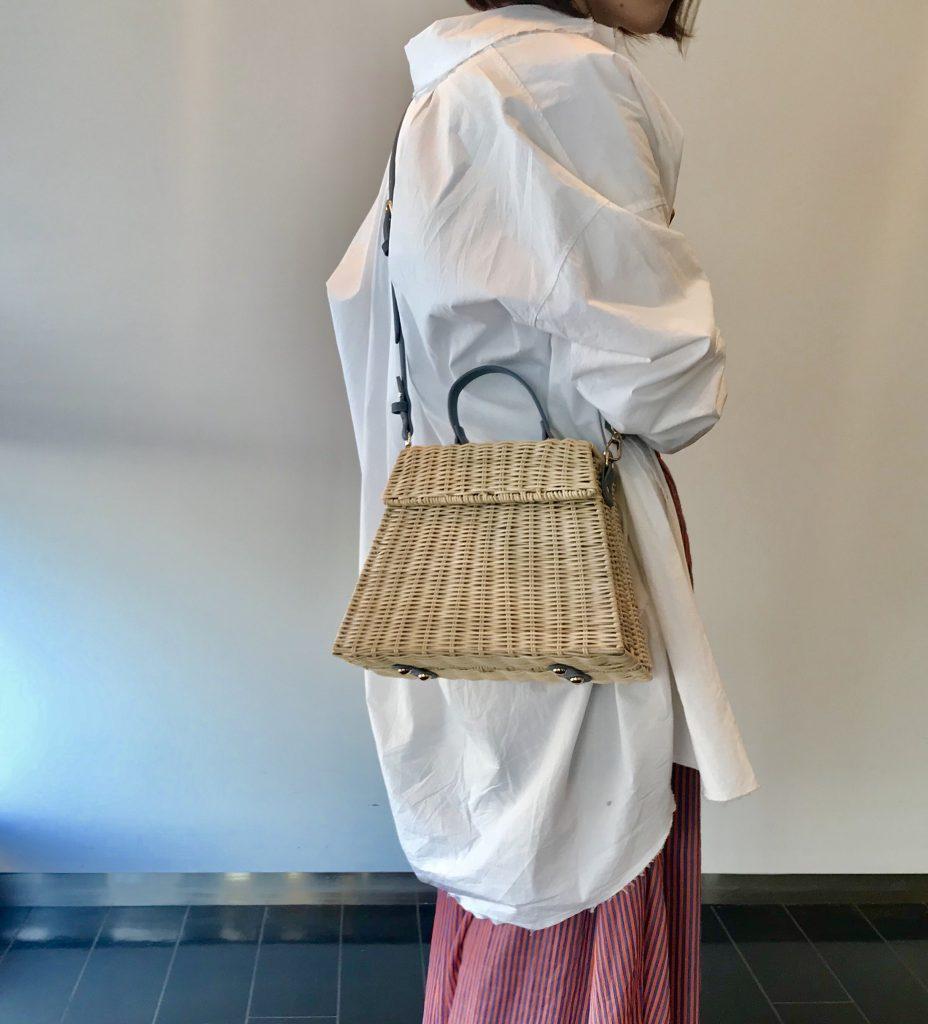 Scrap Book 日本ブランドスクラップブック 有楽町マルイ 可愛い ハンドバッグ ショルダーバッグ かごバッグ basket bag 2way shoulder bag 春新作 春バッグ 肩掛けショルダー 斜め掛けショルダー籐