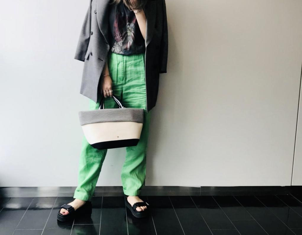 atneK アトネック Scrap Book スクラップブック 有楽町マルイ 可愛い トートバッグ tote bag シルバー ボーダー 日本人男性デザイナーブランド 頒布