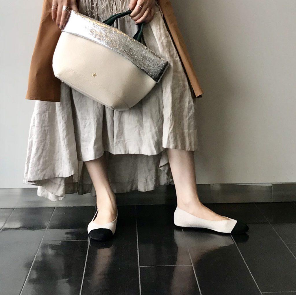 Scrap Book 有楽町マルイ 可愛い スクラップブック アトネックバイスクラップブック knit pumps ニットパンプス バイカラーパンプス フラットシューズ バレーシューズ 春新作 春シューズ ストレスフリー インソールクッション 日本ブランド