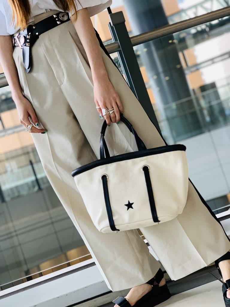 スクラップブック 渋谷 ヒカリエ bag バッグ キャンバスバッグ トートバッグ 星 スター スターモチーフ