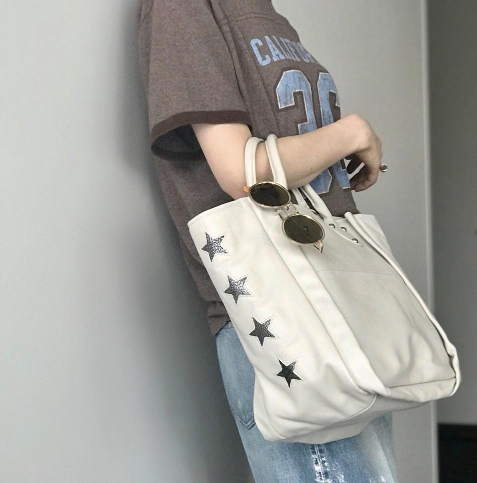 atneK Scrap Book スクラップブック アトネック アトネックバイスクラップブック 有楽町マルイ 可愛い 日本ブランド 牛革 トートバック tote bag A4サイズ入るバッグ 軽いバッグ スター STAR