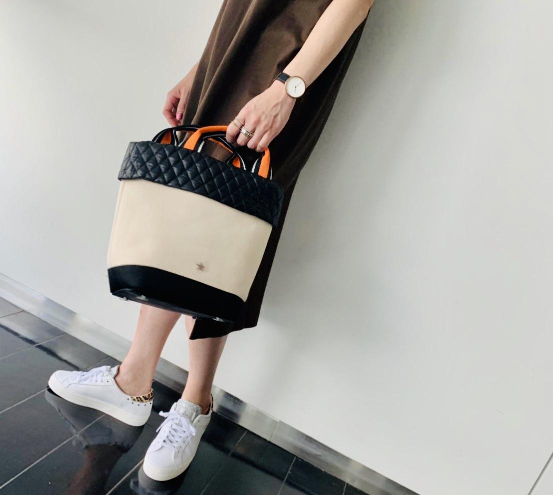 atneK Scrap Book スクラップブック アトネックバイスクラップブック 有楽町マルイ 可愛い tote bag トートバッグ 軽いバッグ 日本ブランド 男性デザイナー 使いやすい 合わせやすい 新作 新作トート キルティング オレンジライン トレンド