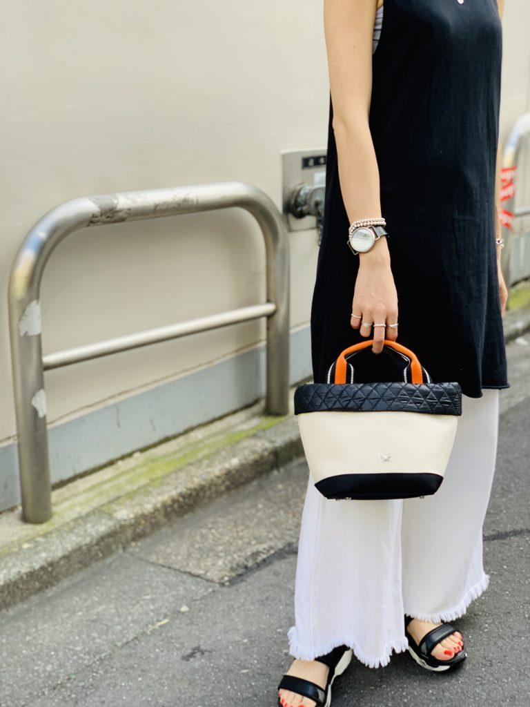 スクラップブック 渋谷 ヒカリエ バッグ bag アトネック atneK キャンバス 小さめバッグ ハンドバッグ
