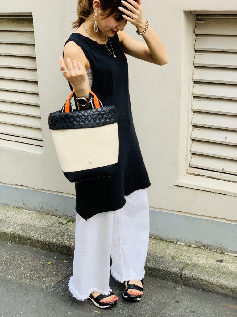 スクラップブック 渋谷 ヒカリエ atneK アトネック キャンバス ハンドバッグ トートバッグ