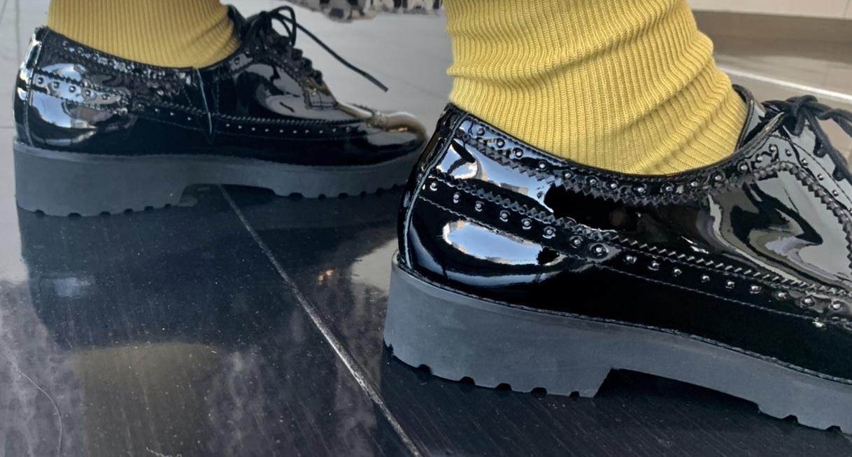 ScrapBook スクラップブック 有楽町 有楽町マルイ 可愛い シューズ shoes 日本製 ソールしっかり 履きやすい クッション性 レザー leather 牛革  スタッズ メンズライク
