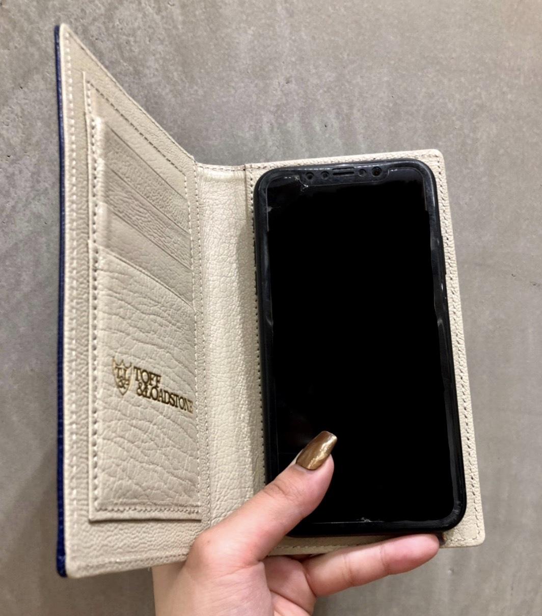 TOFF&LOADSTONE トフアンドロードストーンScrap Book スクラップブック 有楽町マルイ アトネックバイスクラップブック 可愛い スマートフォンケース iPhone case 手帳型 手帳型ケース 牛革 山羊革 日本製 日本のレザー