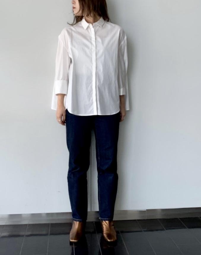 La SRIC ラ スリック ScrapBook スクラップブック 有楽町 有楽町マルイ 可愛い 日本製 シンプル simple シャツ shirt 珍しいデザイン 立体裁断 立体 Yシャツ