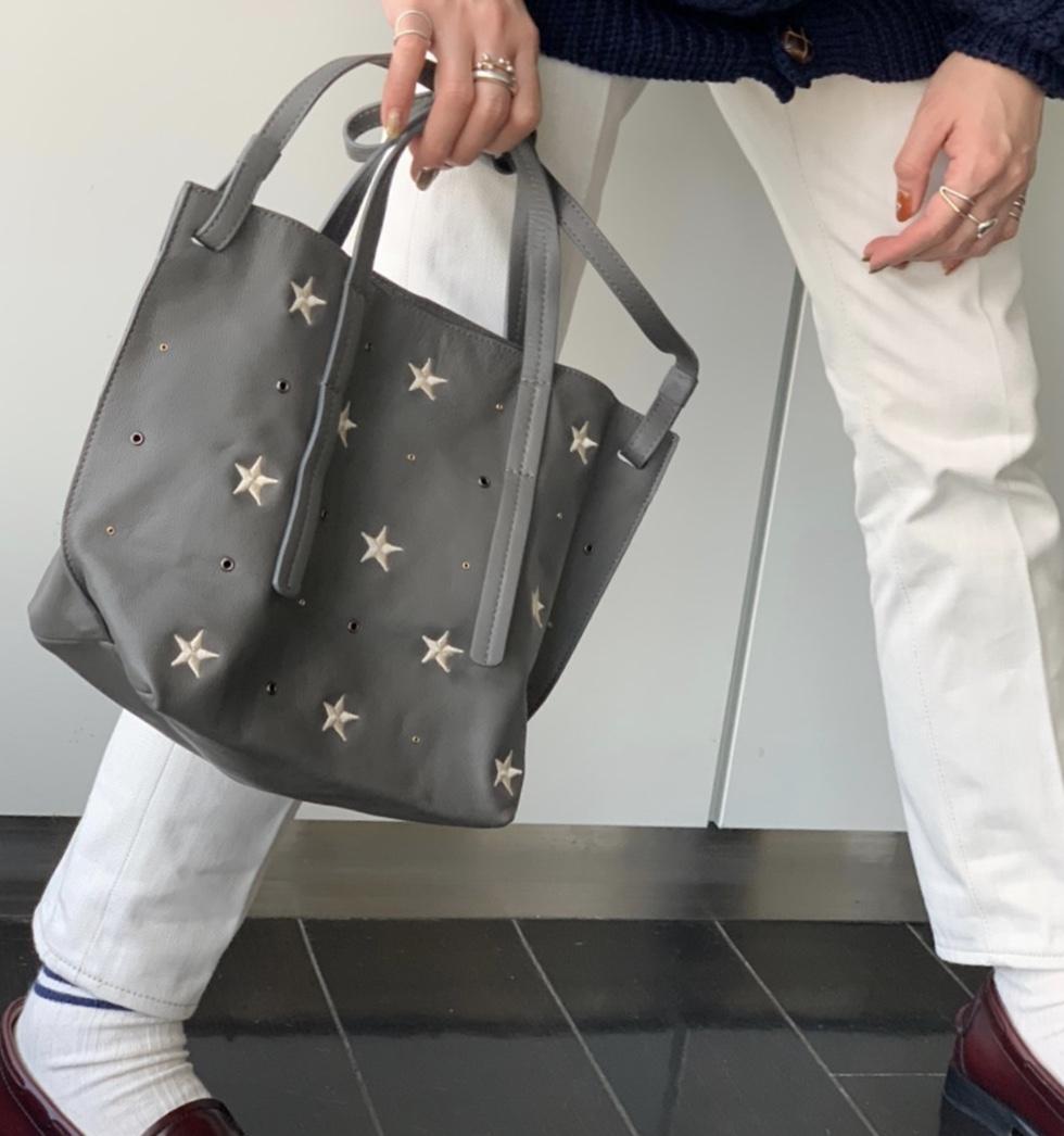 atneK アトネック ScrapBook スクラップブック 有楽町 有楽町マルイ 可愛い トートバッグ tote bag ハンドバッグ handbag star スター 星 刺繍 ラムレザー ショルダーバッグ shoulder bag 軽いバッグ 日本ブランド 日本人デザイナー
