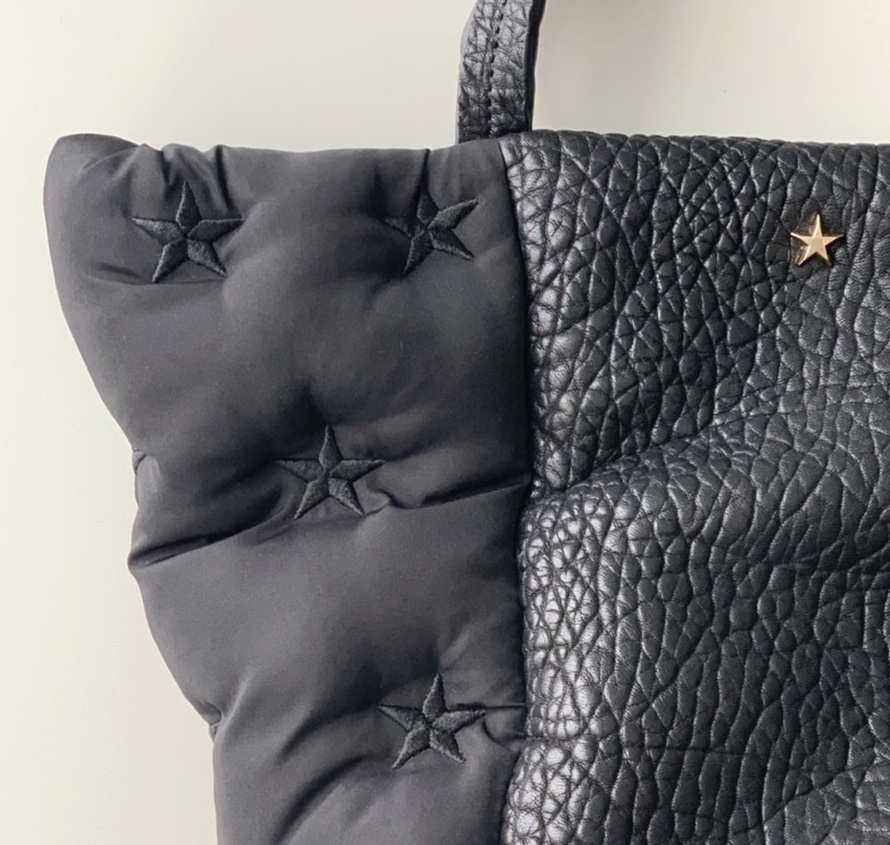 atneK アトネック ScrapBook スクラップブック 有楽町 有楽町マルイ 可愛い トートバッグ tote bag ハンドバッグ handbag star スター 星 刺繍 キルティング 牛革 軽いバッグ 日本ブランド 日本人デザイナー