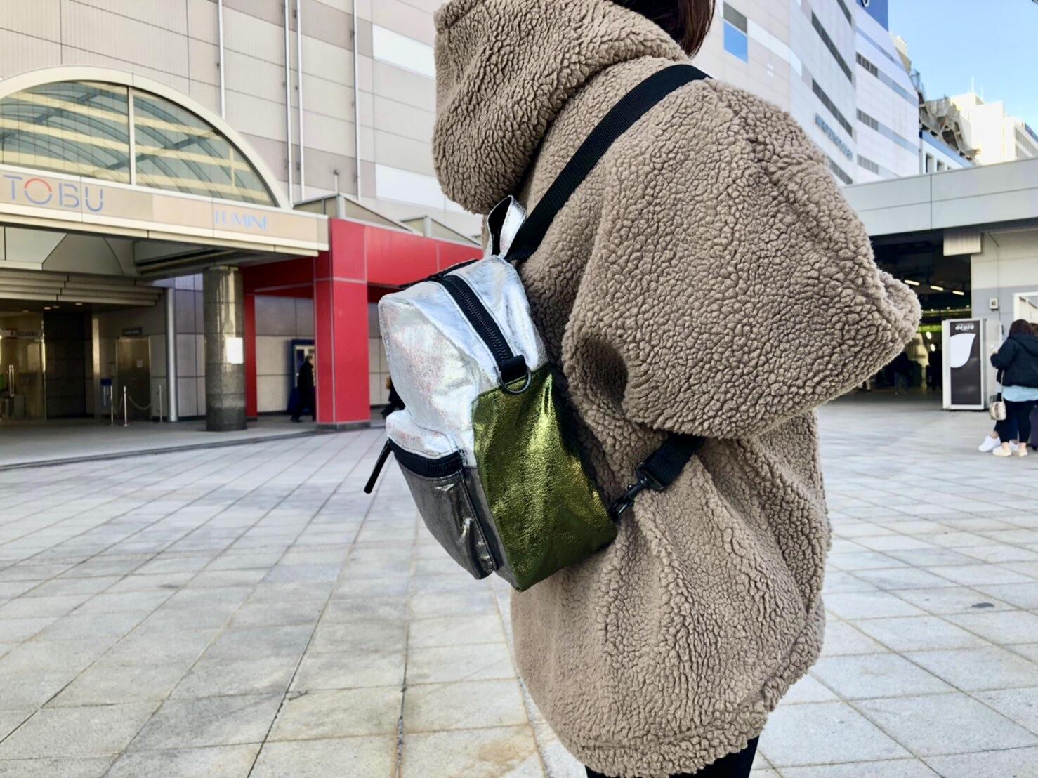POMTATA ポンタタ scrapbook スクラップブック リュックサック ラメ 2way 東武池袋 池袋東武 東武百貨店